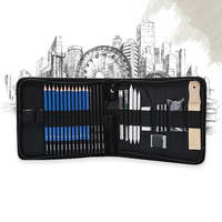32pcs Sketch Pencil Set Students Professional Sketching Drawing Kit Wood Pencil Kids Pencil Bags For Painter School Art Supplies