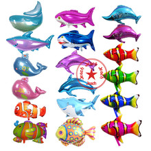 dolphin fish balloon animals shark whale party decoration supplies shaped wedding birthday animal balloons helium