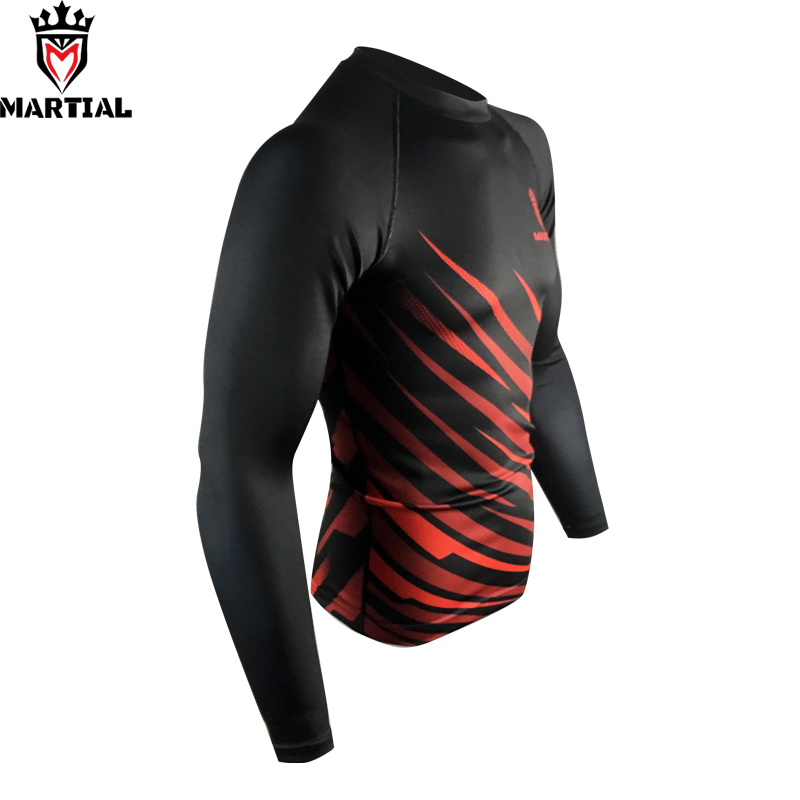 Martial : 2019 NEW ARRIVAL QUICKY DRY RED/BLACK HIGH QUALITY RASH GUARDS