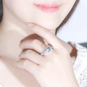 Image 4 - Роскошный свадебный браслет из 14K белого золота 4 карат 10 мм с сердечками и стрелами, цвет ФГ, моиссанит с акцентом Moissanite Eternity