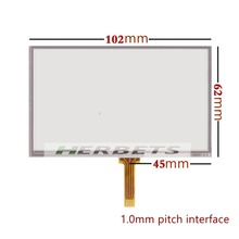 4.3inch Resistive Touch screen Digitizer glass For GPS MP4 MP5 4.3″ AT043TN24 Touch screen 102x62mm