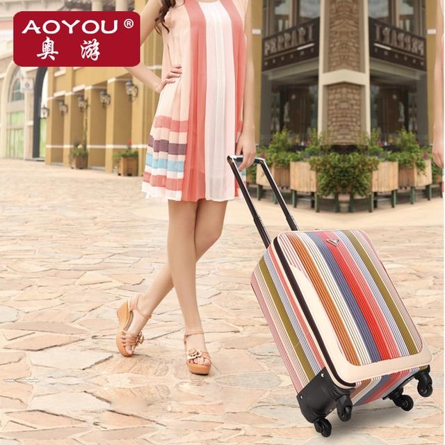 Мода багажа женский универсальные колеса тележки багажа дорожная сумка мягкие сумки чемодан багажа, 16 18 20 22 24 дюймов сумки семьи