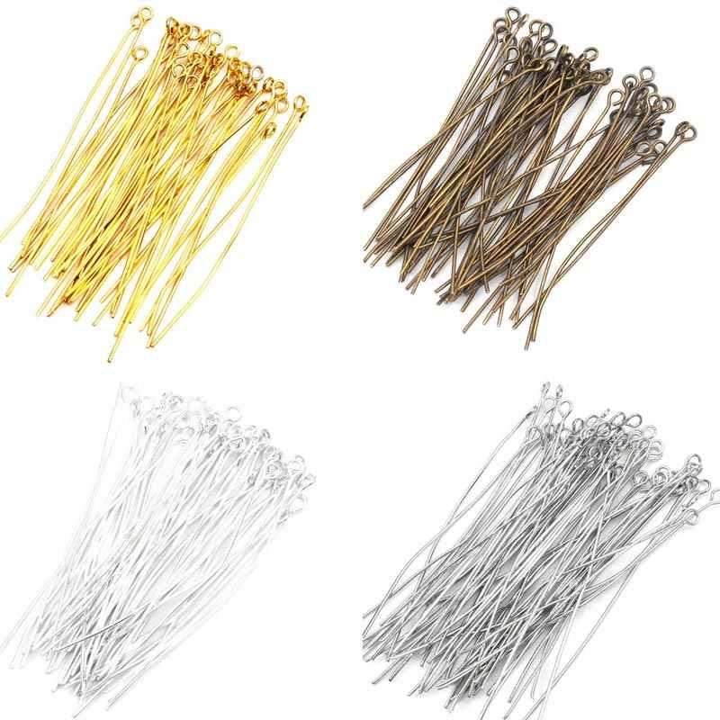 500 шт шпильки для глаз ювелирные Заколки для ожерелья Шарм, изготовление украшений серьги DIY аксессуары