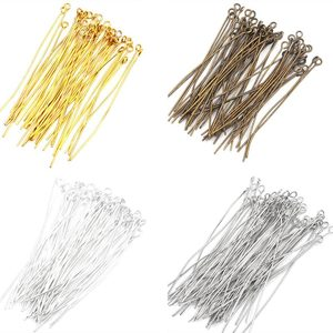 500Pcs Head Pins Eye Pin Jewelry Findings For Necklace Charm Jewelry Making Earrings DIY Accessories(China)
