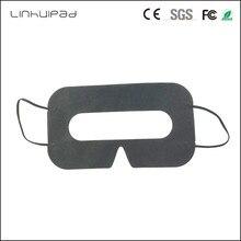 Linhuipad 100 adet siyah tek kullanımlık koruyucu hijyen göz pedi yüz maskesi pedleri HTC Vive 3D sanal gerçeklik gözlükleri