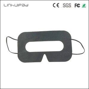 Image 1 - Linhuipad 100 pièces noir jetable protection hygiène coussin pour les yeux masque pour HTC Vive pour 3D lunettes de réalité virtuelle