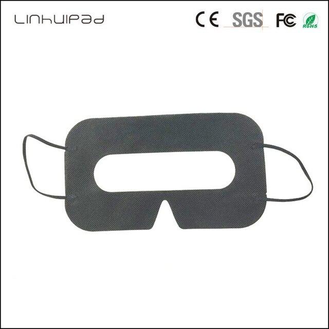 Linhuipad 100 pièces noir jetable protection hygiène coussin pour les yeux masque pour HTC Vive pour 3D lunettes de réalité virtuelle