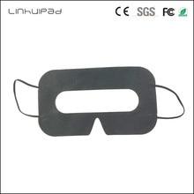 Linhuipad 100 sztuk czarny jednorazowe higieny ochronnej opaska na oko maska klocki dla HTC Vive dla 3D okulary do vr