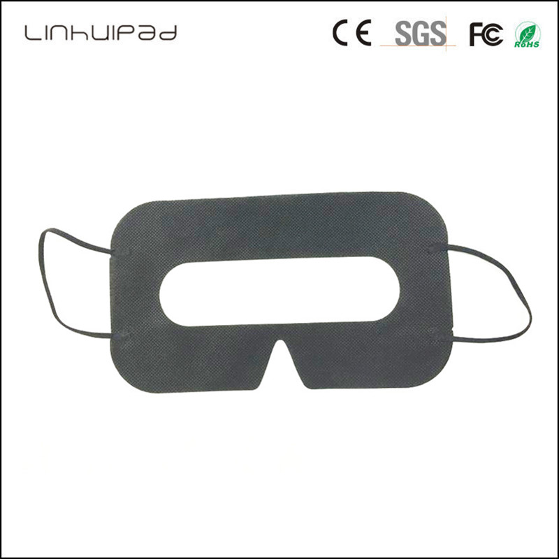 Linhuipad 100PCS Black Disposable Protective Hygiene Eye Pad Face Mask Pads For HTC Vive For 3D Virtual Reality Glasses