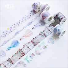 Red Rose Love Wedding dress purple flowers Lace curtain Decoration planner washi tape DIY Diary Scrapbooking masking tape escola