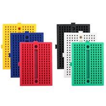 Robotlinking 6 sztuk 170 tie-points Mini Breadboard zestaw do arduino tanie tanio Nowy Regulator napięcia red blue yellow green white and black 2 columns of 17 lanes with two 5 point rows 6 5-12V (DC) or USB power supply