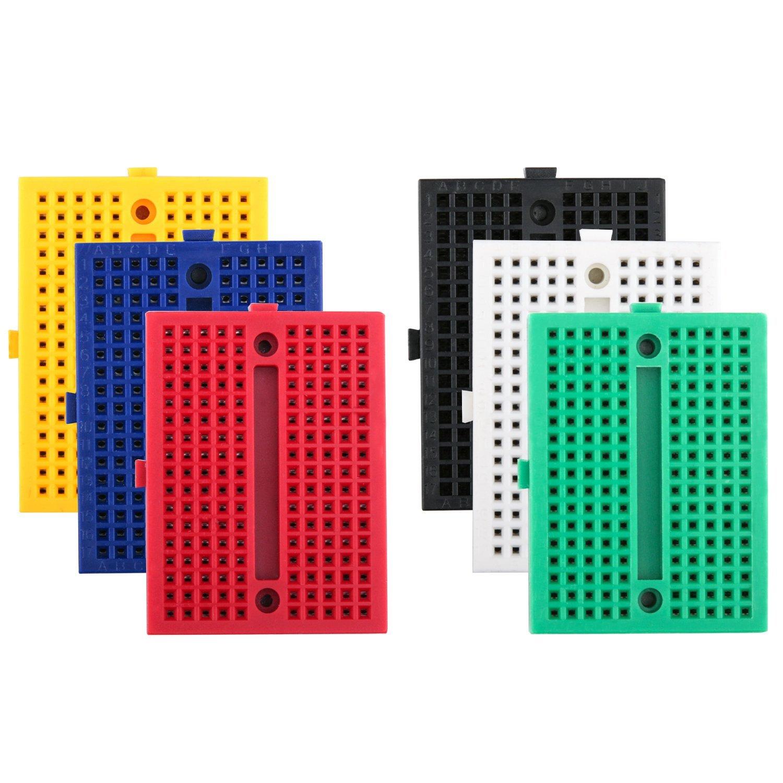 Купить со скидкой Robotlinking 6PCS 170 tie-points Mini Breadboard kit for Arduino