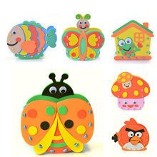 12 Colors DIY Educational toys gift EVA baby hand  Handmade Felt Fabric Craft Kits Toys Pen Container for Kids