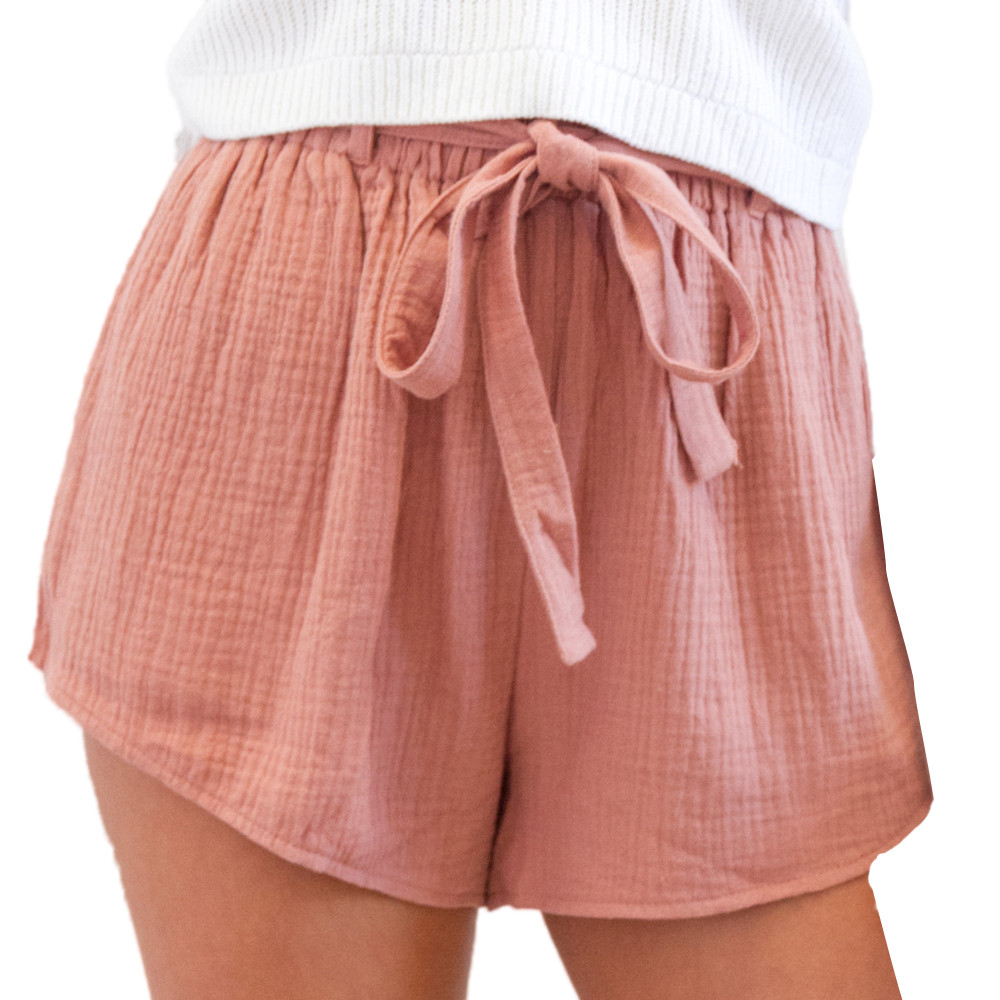Sleeper#401 2019 NEW FASHION Women Sexy Elastic   Short   Pants Drawstring   Shorts   simple design solid summer hot sale Free Shipping