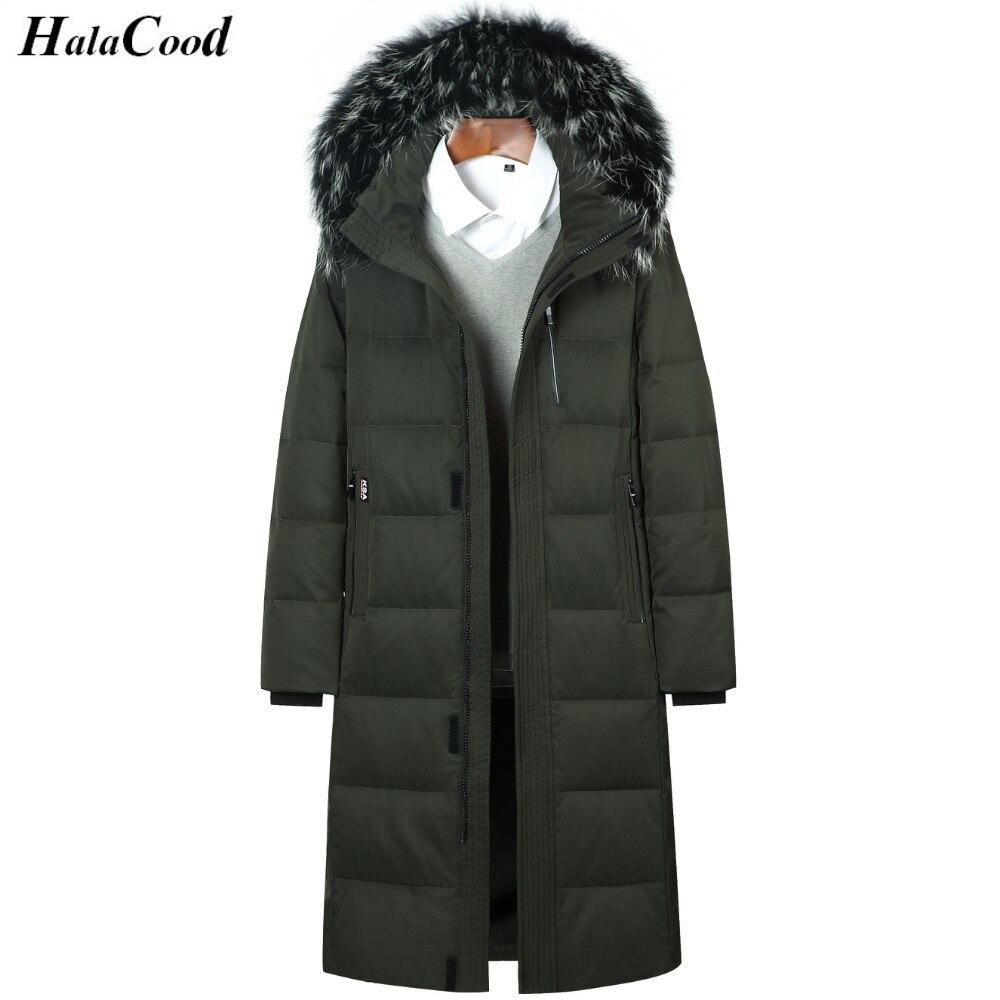 Edler Schmuck Effizient Männer Ente Daunenjacke Langen Mantel Plus Größe Winter Weiß Ente Daunenjacken Reißverschluss-mantel Natürliche Pelzkragen Warme Kleidung Mantel Nachfrage üBer Dem Angebot