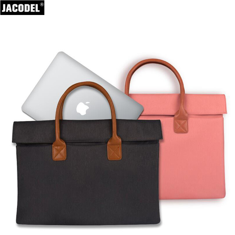 Jacodel Wapterproof Laptop Briefcase Bag for Macbook Xiaomi air Notebook Laptop Handbag Women Fashion Laptop Messenger Bag Case