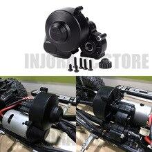 1 PCS Plastic Black Transmissie Case met Gear Center Versnellingsbak voor 1/10 RC Auto Axiale SCX10 SCX10 II 90046 90047 upgrade Onderdelen