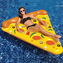 180cm PVC Inflatable Pizza Slice Floating Bed Raft Swimming Ring Air Mattress Float Row Adult Swimming Pool Water Toy Swim Beach 220cm giant parrot inflatable pool float adult swim ring children toy flamingo pool float beach water toy air recliner mattress