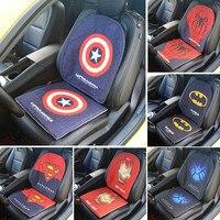 LUNASBORE Hot Sell Cartoon Seat Linen Cushion Buttocks Chair Back Cushion Pads Car Decor For Star Wars Avengers Captain America