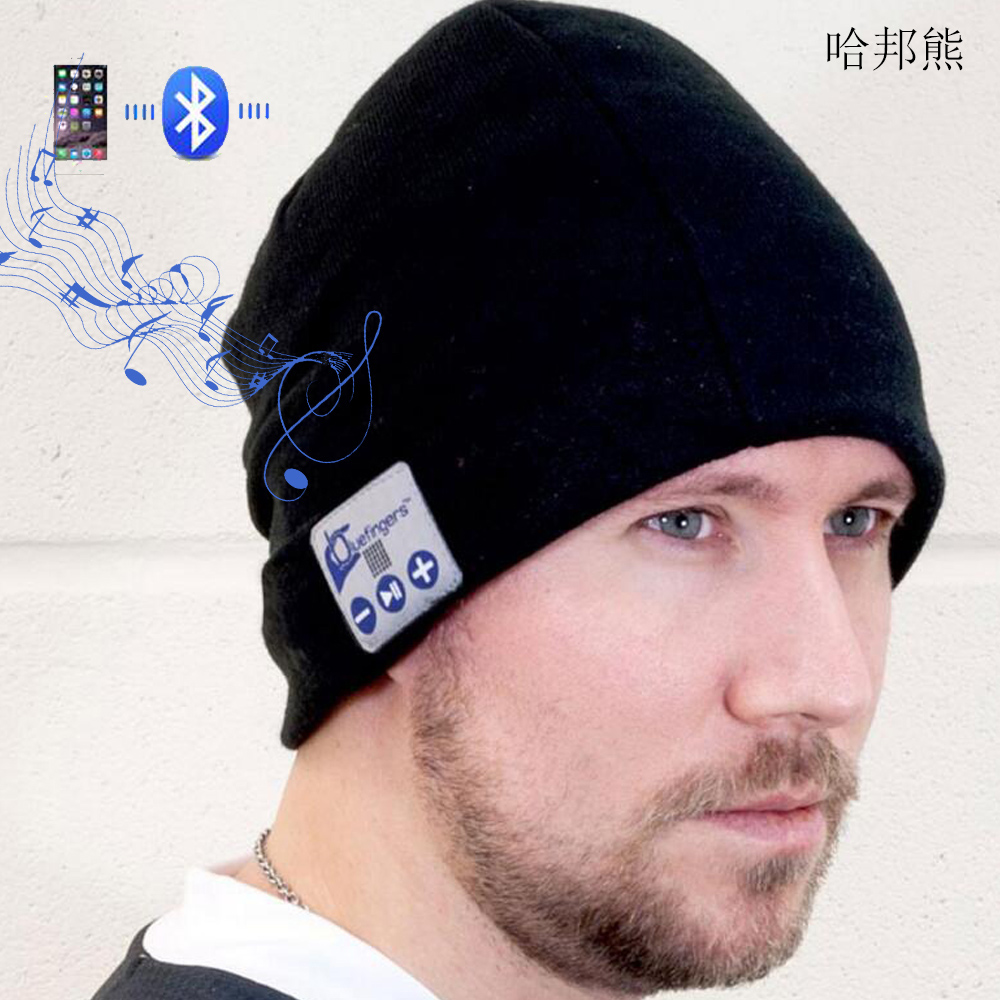 Smart Cap Headset Warm Winter Knitted Hats Music Bluetooth headset hat Stereo wireless handsfree headphone for smartphone free shipping fashion cool striped wireless bluetooth music knit hat with handsfree smart cap headset top quality