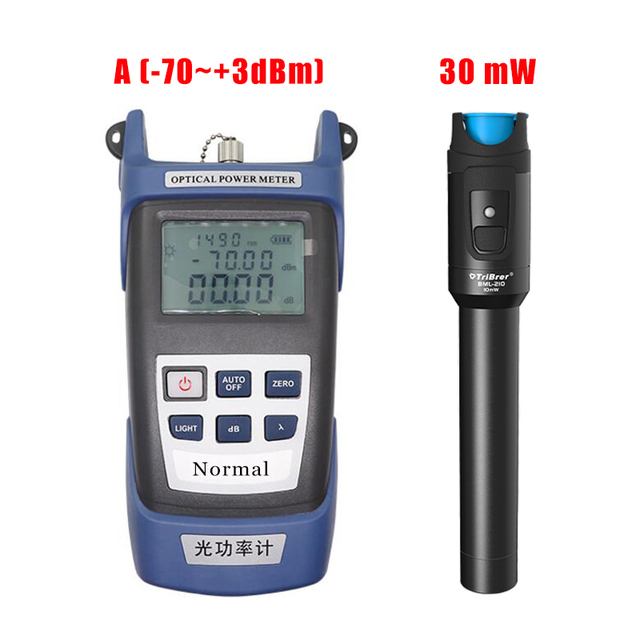 2-in-1 Fiber Optical Power Meter Fibra -70~+3dbm 7Wavelength ,30mw Visual Fault Locator Fiber Optic Cable Tester Pen 30km VFL