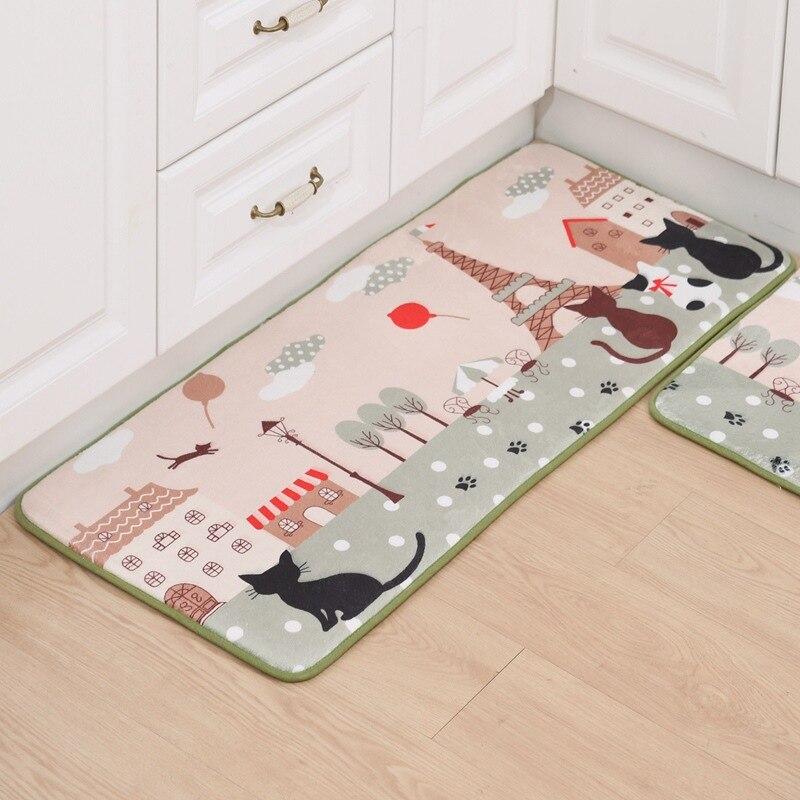 50X80+50X120CM/Set Tower Kitchen Mat Home Hallway Doormat Anti-Slip Bathroom Carpet Kids Room Area Rug Wardrobe/Balcony Mat