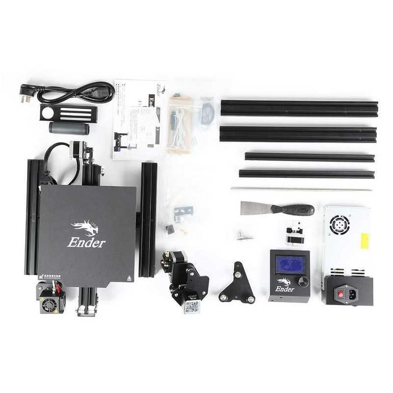 Ender 3PRO bricolage 3D imprimante Kit 220x220x250mm avec MK10 extrudeuse 1.75mm 0.4mm buse