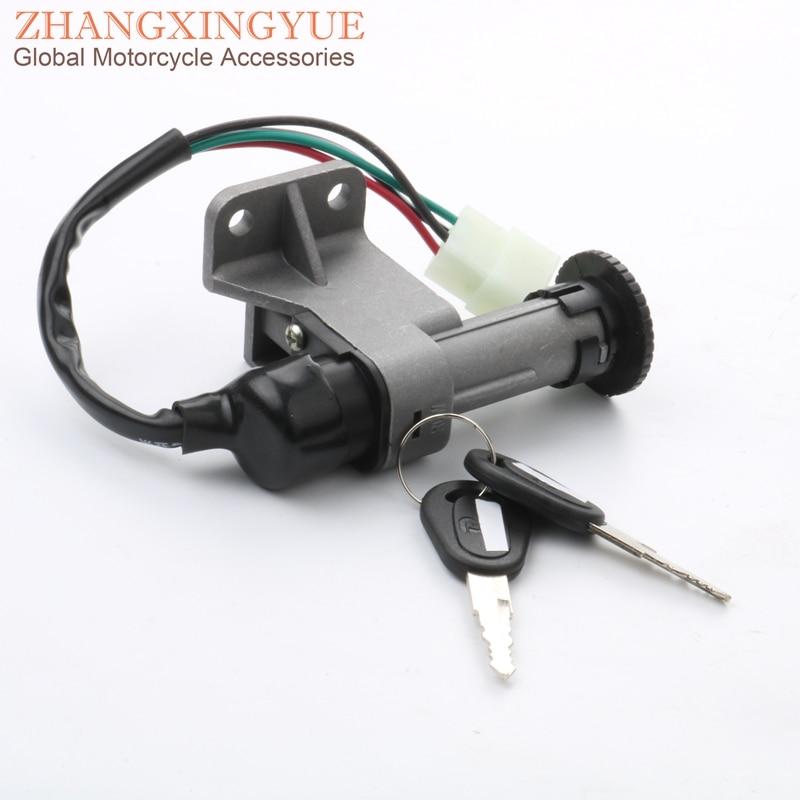 4 Plug Scooter Electric Door Lock For Baotian 50cc QT7 125cc T2 China GY6 50cc 125cc 150cc