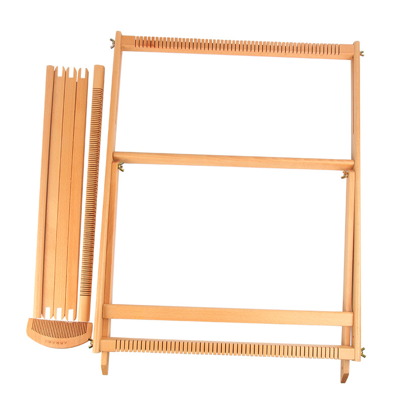 49x64CM Weaving Loom Kit Tapestry Weave Frame Lap Heddle Loom With ...