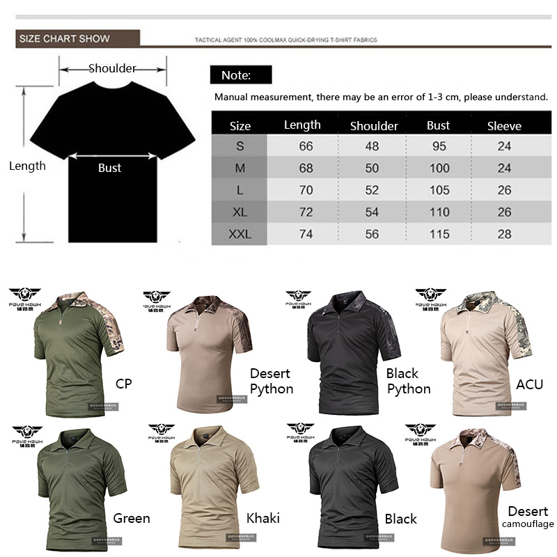 Mens Camouflage Army T Shirt Soldiers Combat Tactical T Shirt Military Short Sleeve Tee Shirts Male Hunt Camping Hiking Clothes in Hiking T shirts from Sports Entertainment