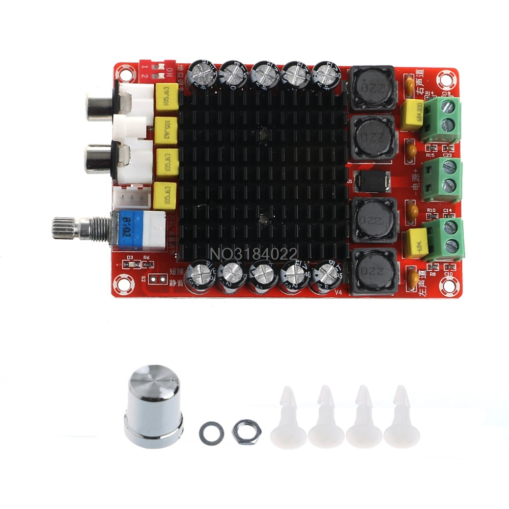 TDA7498 2x100 W Scheda Amplificatore di Potenza Digitale Amplificatore Audio di Classe D Audio Dual Stereo DC 14-34 V Per Home Theater Altoparlante Attivo