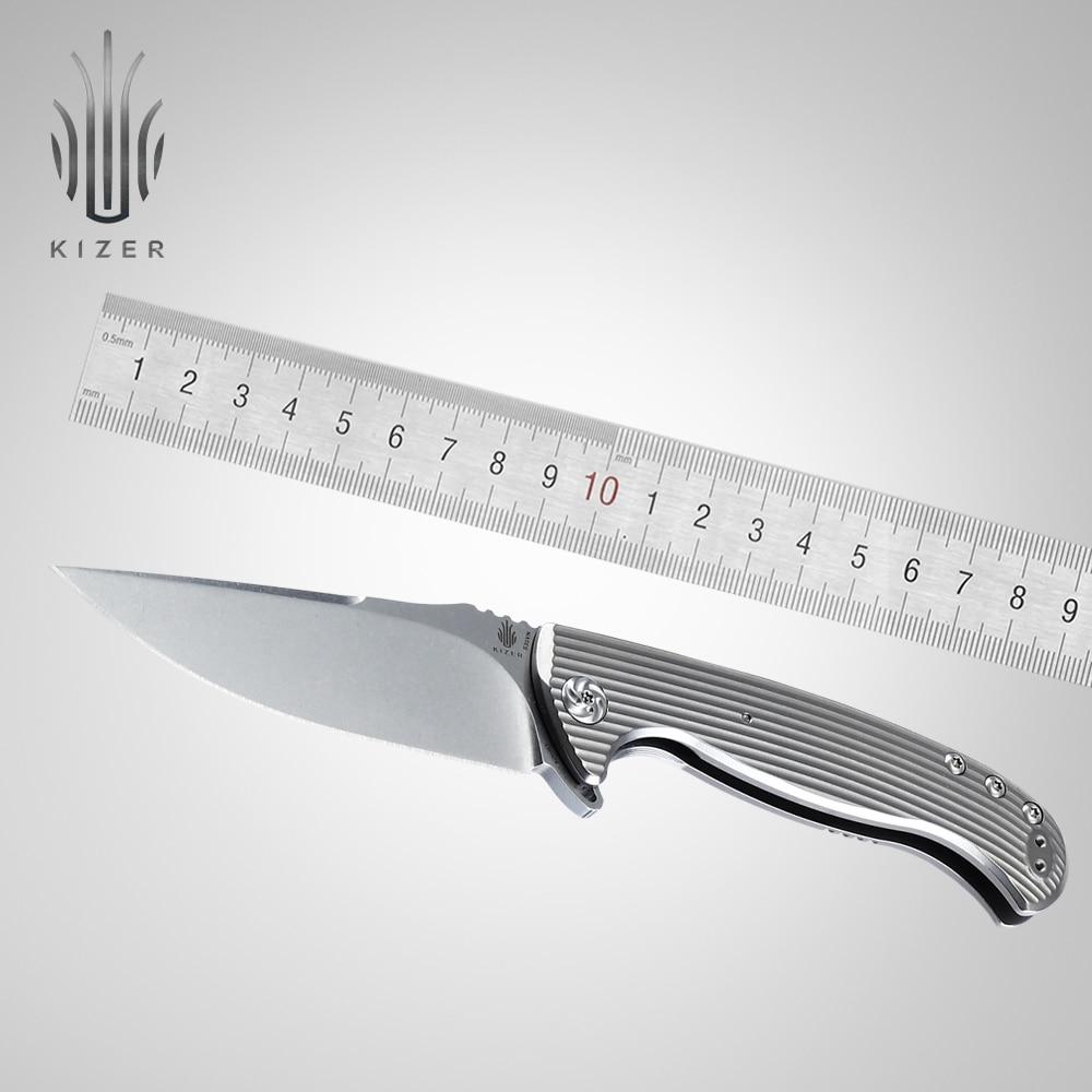 Kizer fino bolso faca toro melhor dobrável faca tática essencial ao ar livre faca edc ferramenta