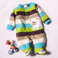 2014 Baby Winter Carter Cotton Romper Newborn Cartoon Rompers Unisex Baby Costume Jumpsuits Clothes Free Shipping
