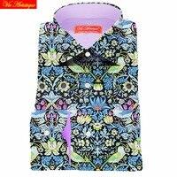 Floral Shirts Dress Shirt Printed Men Flower Shirts Designer S Casual Slim Fit Long Sleeve Oversize