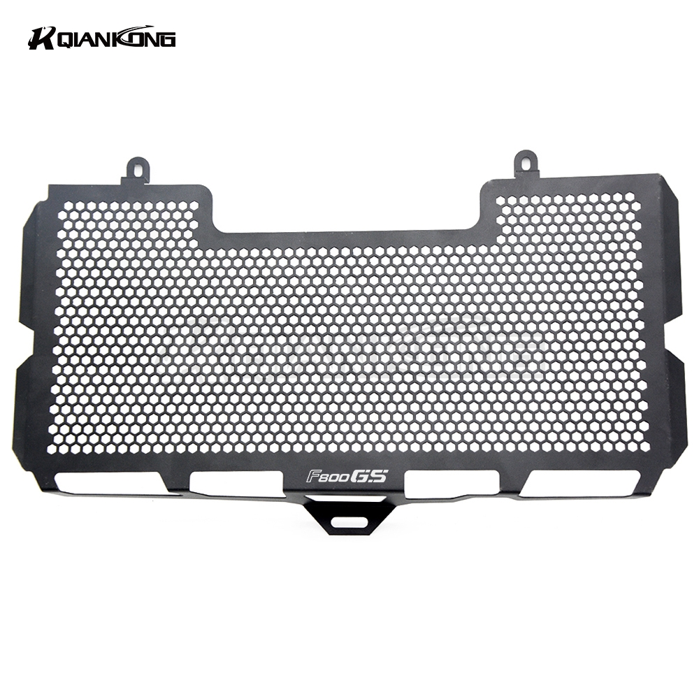 R QIANKONG Brand new BLACK Stainless Steel Radiator Grille Guard Cover f800gs For BMW F800GS F800R 2008-2018 2017 2016 2015 2014 motorcycle black radiator grille guard cover protector for bmw f800r 2009 2015 f800s 2006 2007 2008