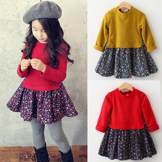 5b71ccb4adf2 Brand High Quality 2017 Autumn Children Dresses Girls Fashion Lovely ...