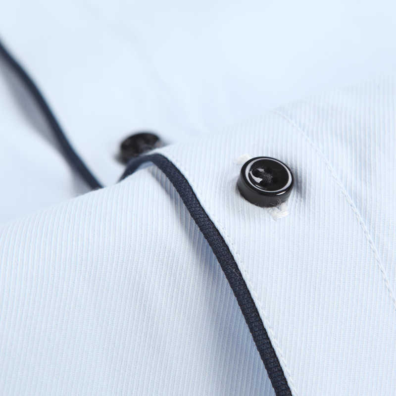 ホット販売高品質男性ターンダウン襟長袖スリムフィットツイル固体快適なビジネスフォーマルメンズドレスシャツ