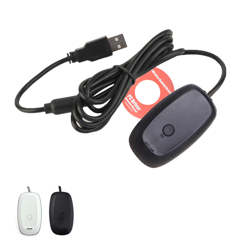 Para Xbox 360 PC Gamepad Sem Fio Adaptador USB Receiver Suporta Win7/8/Controlador de Sistema Para Microsoft Xbox360 10 console