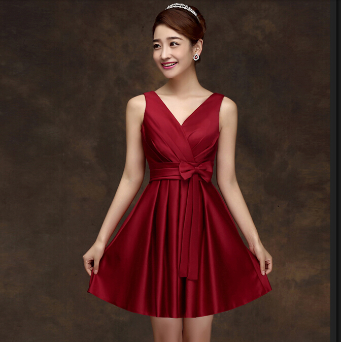 Popular Wine Color Bridesmaid Dresses-Buy Cheap Wine Color ...