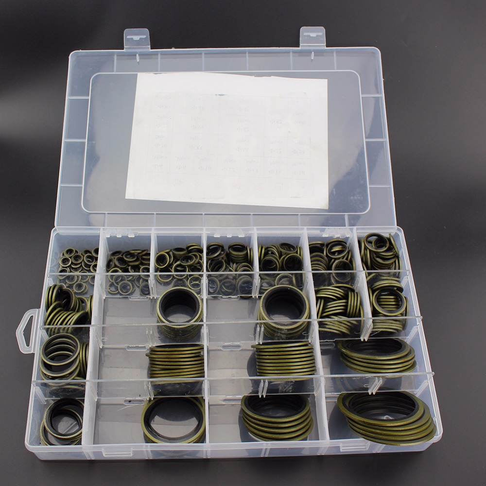 M6 M8 M10 M12 M14 M16 M18 M20 M22 M24 M27 M30 M33 M36 M39 M42 M45 M48 M52 M60 Gasket Washer Sealing O-Ring Socket 355PCS/SET city woman amor туалетная вода 60 мл