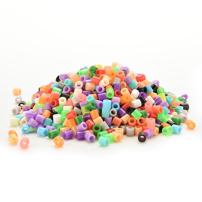 1000pcs 5mm Hama Perler Beads PE Kids Children DIY Handmaking Fuse Bead Intelligence Educational Diy Toys Craft