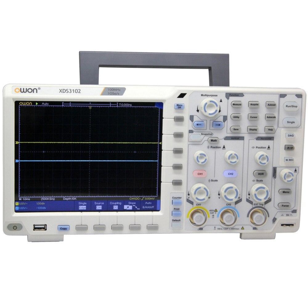 OWON XDS3102 100Mhz 1G Oscilloscope datalogger rmultimeter waveform generator осциллограф owon hds1021m
