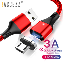 !ACCEZZ Type C Usb Magnetic Fast Charge Cable For Samsung Galaxy S10 S9 S8 Huawei P30 Mate20 Xiaomi 9 SE 8 7 6 Charger Data Line