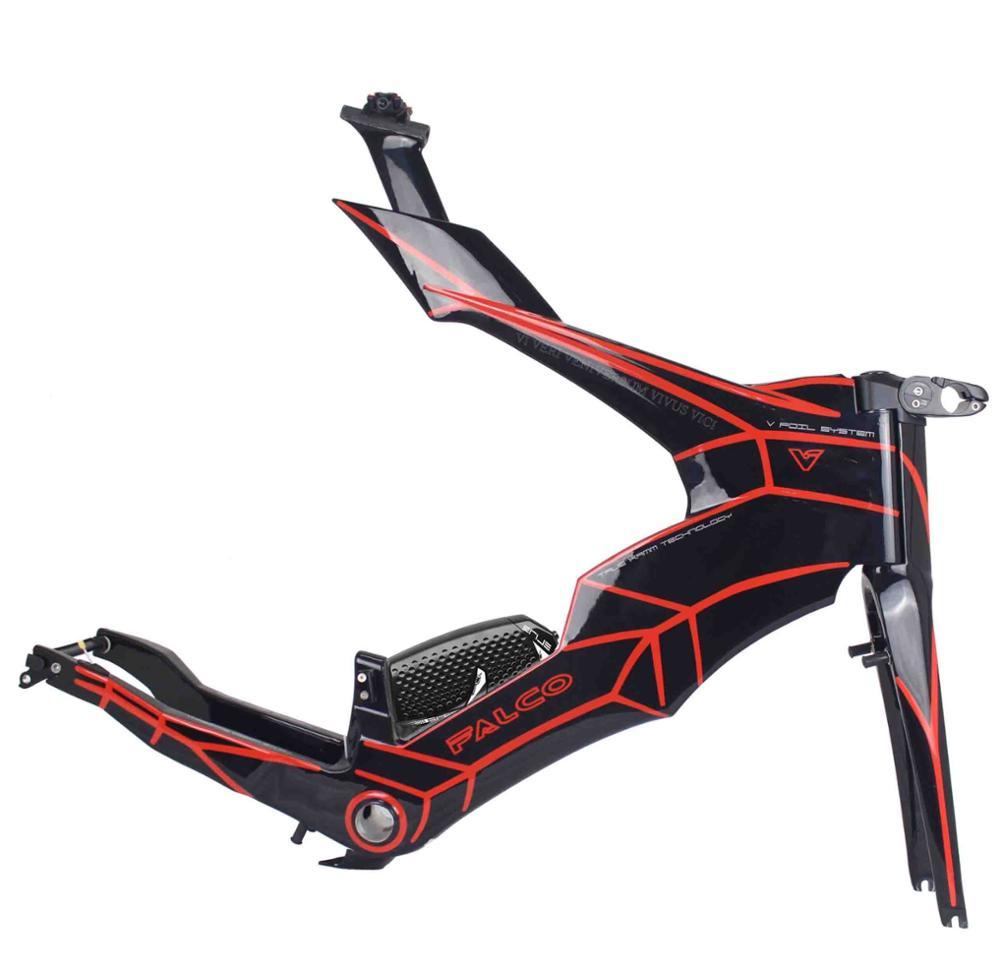 Bike Frame Trial-Triathlon-Frame Carbon-Time FALCO NEW Di2 700c-Light