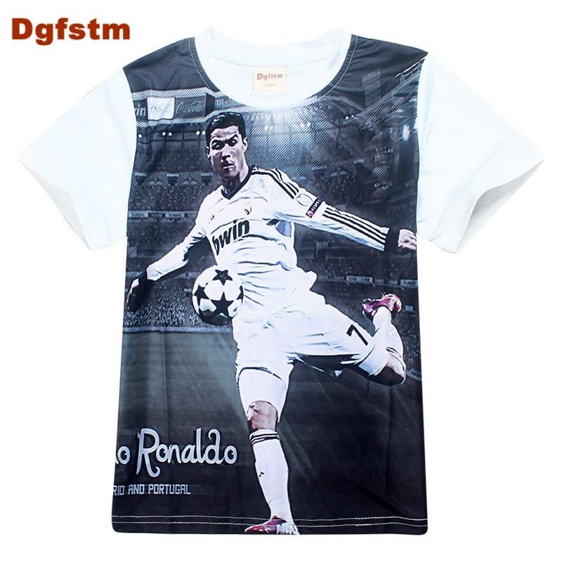 DGFSTM Football Tshirt Boys Children Clothing Short Sleeve T Shirt Tees Clothes...