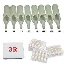50PCS Round Size 3 Disposable White Short Tattoo Tip Tube Nozzle Supply – TT-002W-3RT