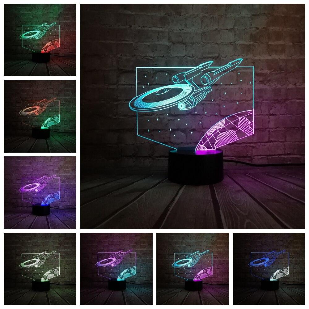 Cartoon Mixed color 3D Lights Lamp Star Wars Airship Trek Decor Bulb Led Home Table Night Light Child Gift Multicolor Luminaria
