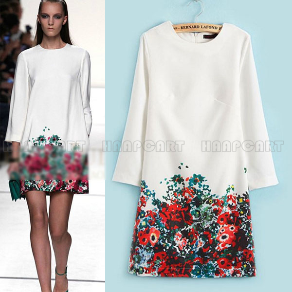 White Straight Mini Dress