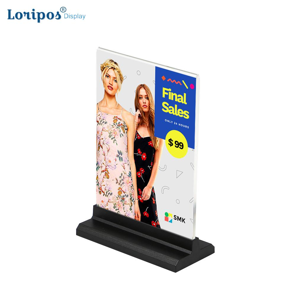 Card Holder & Note Holder Buy Cheap A5 Menu Stand Counter Cashier Desk Sign Holder Menu Stand Plastic Frame Photo Frame Advertising Food Poster Frame Price Display