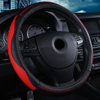 XWSN high quality leather steering wheel cover is suitable for BMW Honda Buick Ford Dacia MG HUMMER Bentley 38cm Auto parts